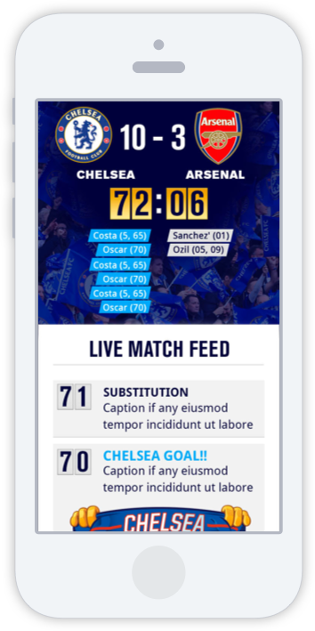 Match day mobile